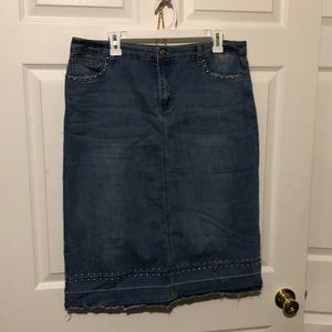 Christopher Banks Denim Skirt